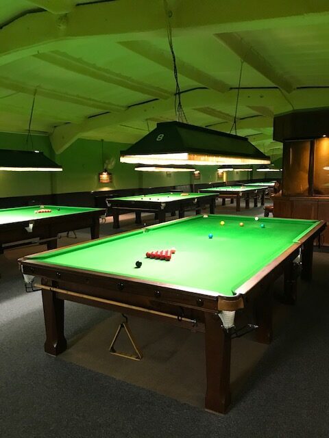 Snooker Tables, Bar, TV and Pool Table